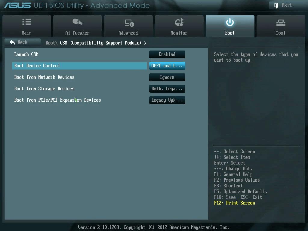 Change Boot Mode to Legacy BIOS